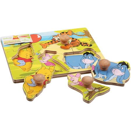Melissa   Doug Disney Winnie The Pooh Wonder Jumbo Knob Puzzle
