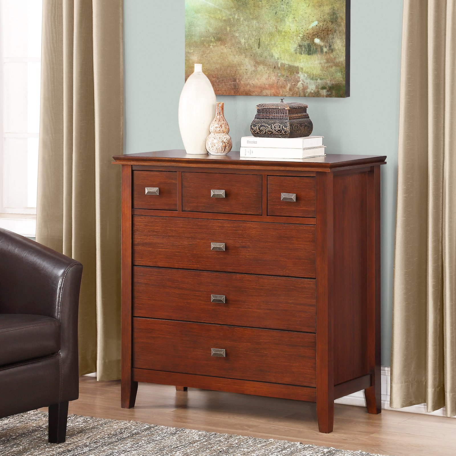 Simpli Home Artisan Bedroom Chest of Drawers