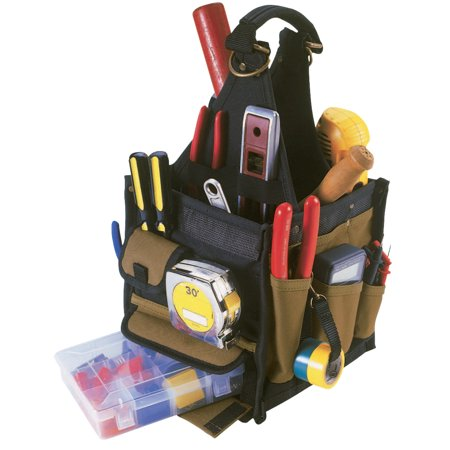 CLC Custom Leather Craft Soft Side Tool Carriers, 28 Compartments, 17 in X 8 in