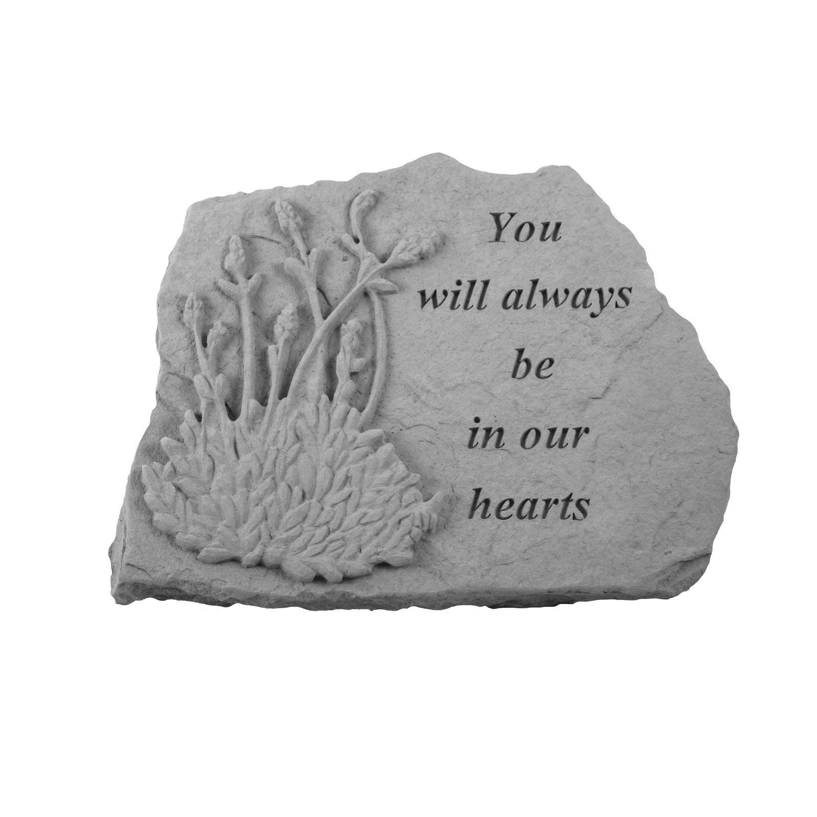 Kay Berry In Our Hearts Memorial Stone - Lavender Design