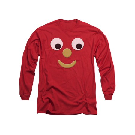 Gumby 1960's Claymation TV Series Blockhead J Face Adult Long-Sleeve - Gumby Suit