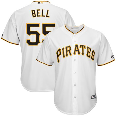 Josh Bell Pittsburgh Pirates Majestic Cool Base Player Replica Jersey - White