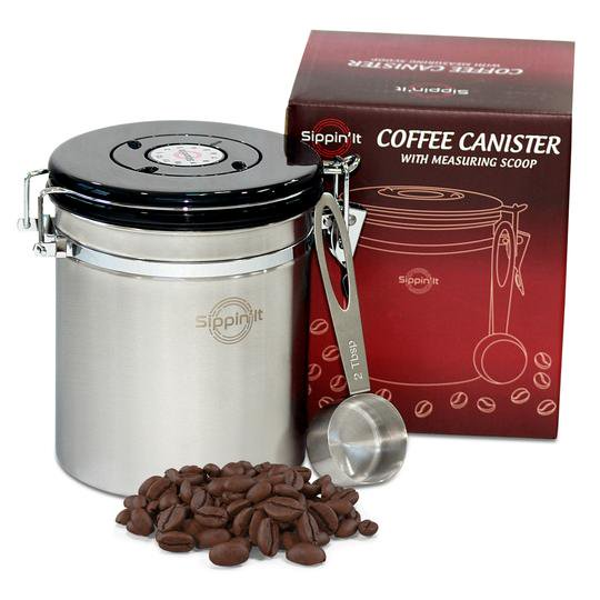 Sippin It Airtight Stainless Steel, Coffee Storage Containers