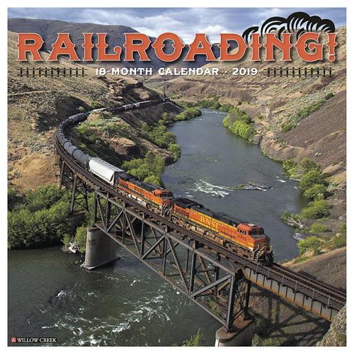 Willow Creek Press 2019 Railroading Wall Calendar