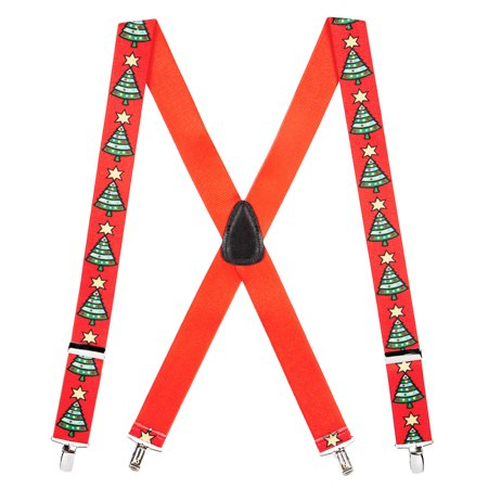 Suspender Store Christmas Tree Clip-End Holiday Suspenders (3 Sizes) (Holiday Suspenders)