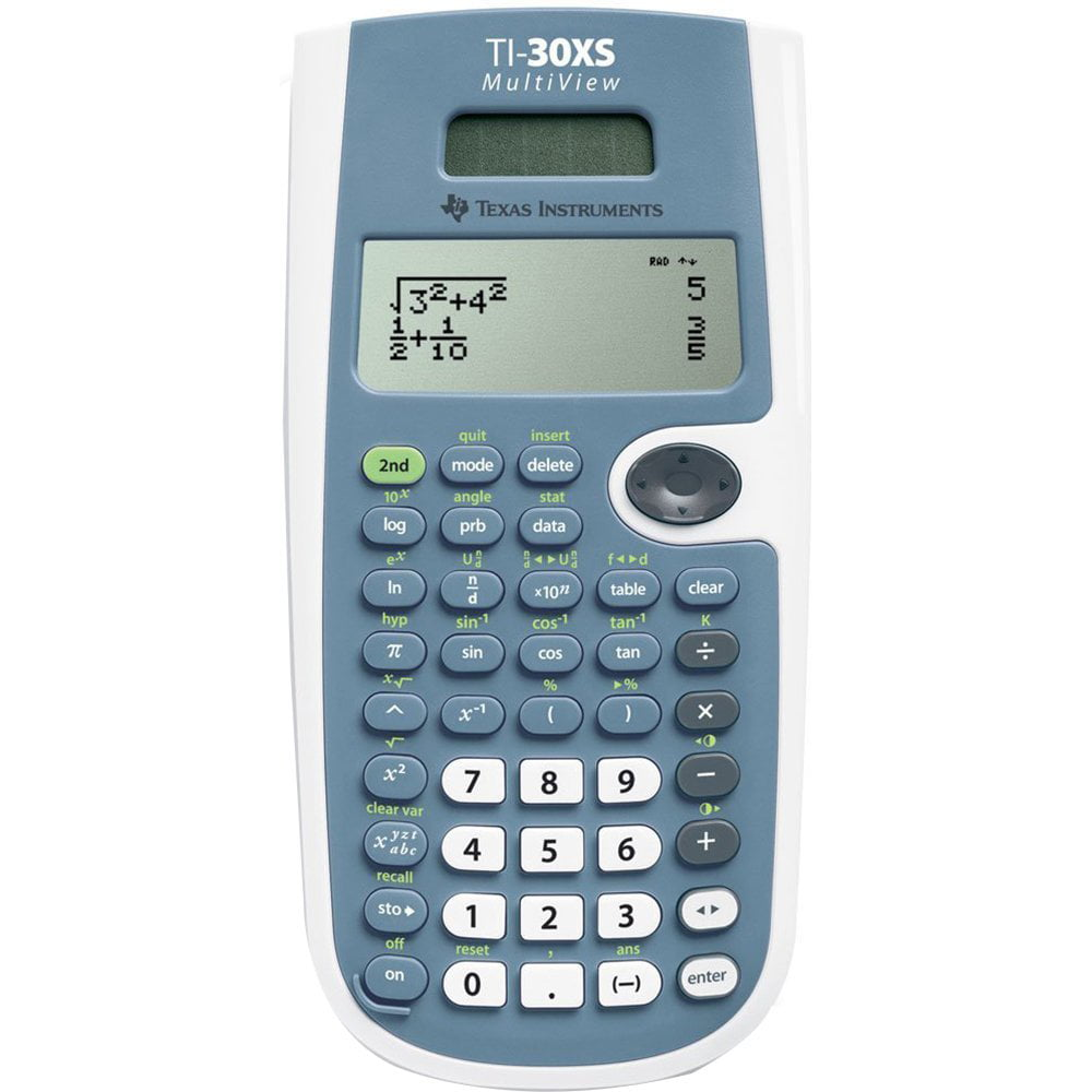 Texas Instruments TI-30XS MultiView Scientific Calculator - Walmart.com
