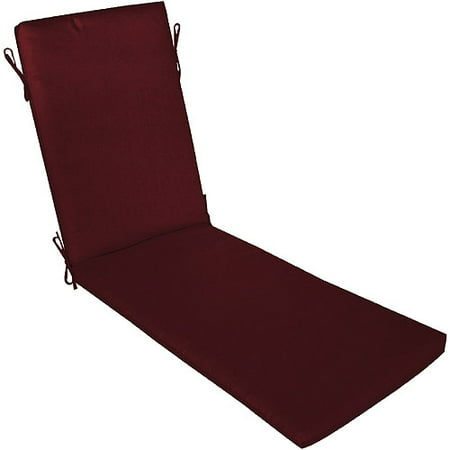 burgundy chaise cushion