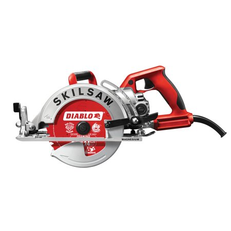 SKILSAW SPT77WML-72 7-1/4 in. Lightweight Magnesium Worm Drive Circular Saw with Twist Lock Plug and Diablo Carbide Blade (Ferrous Metal Carbide Circular Saw)