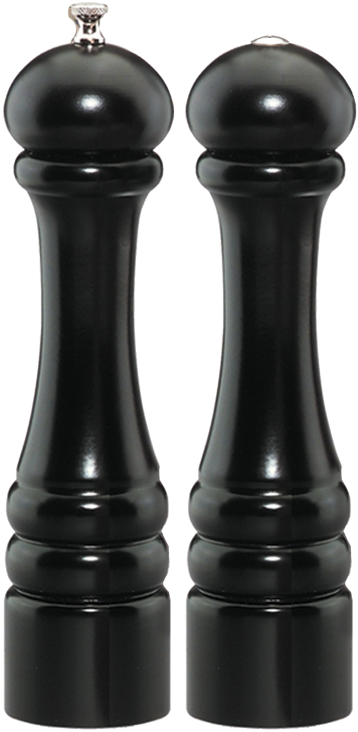 Chef Specialties Imperial Ebony Maple Wood 2 Piece Salt Shaker and Pepper Mill Set by Chefs Specialties