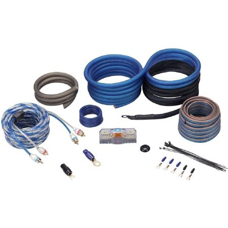 Rockville RWK4CU 4 AWG Gauge 100 Percent Copper Complete Amp Installation Wire Kit,