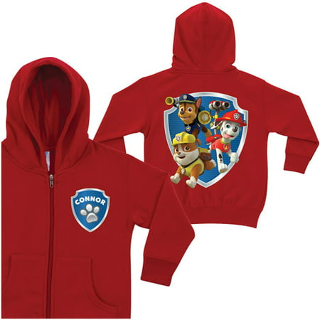 PAW Patrol Hoodie - Personalized To the Rescue Red Zip-Up Boys' Hoodie