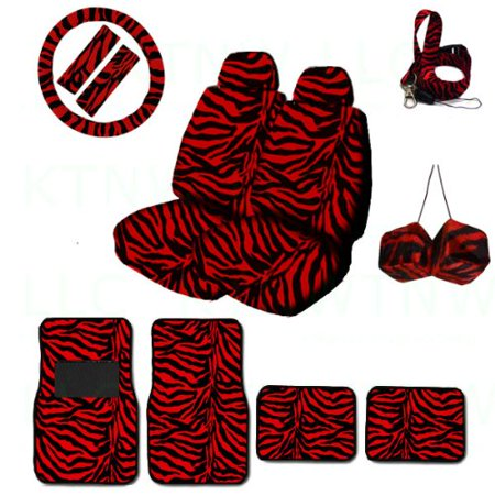 A Set Of Animal Print Front And Back Floor Mats 2 Low