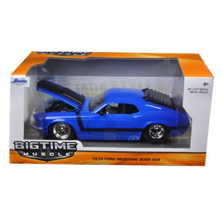 JADA 1:24 W/B BIG TIME MUSCLE - 1970 FORD MUSTANG BOSS 429 98026-MJ 18 1970 Ford Mustang Boss