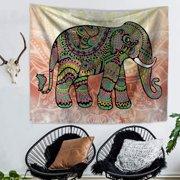 Bohemia Tapestry Mandala Indian Elephant Wall Hanging Blankets Home Decor Polyester Beach Towel Yoga Mat Photograph Background