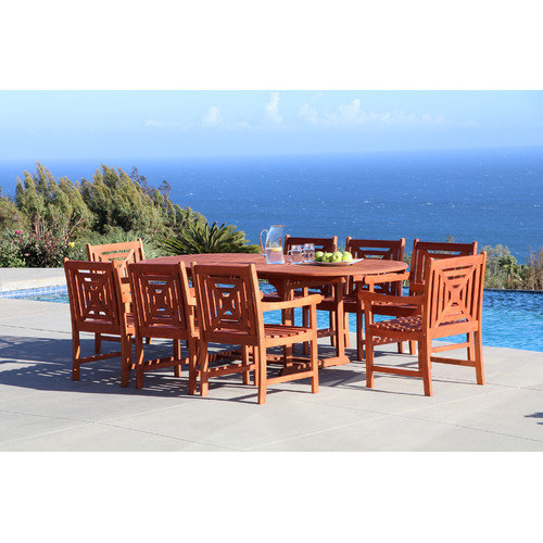Vifah Malibu 9 Piece Dining Set