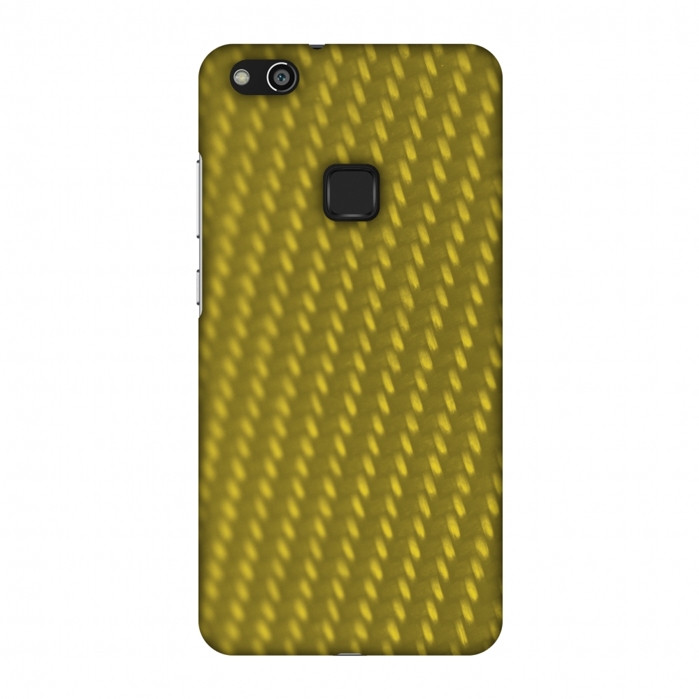 Huawei P10 Lite Case, Premium Handcrafted Printed Designer Hard Snap on Shell Case Back Cover for Huawei P10 Lite - Carbon Fibre Redux Desert Sand 12