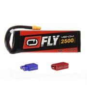Venom Fly 50C 6S 2500mAh 22.2V LiPo Battery with UNI 2.0 Plug (XT60/Deans/EC3) - Compare to E-flite EFLB40006S30