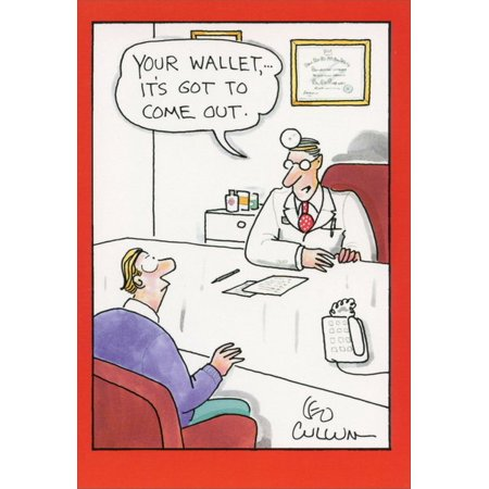 Nobleworks Wallet Has To Come Out Funny / Humorous Leo Cullum Get Well Card Get Well Bag