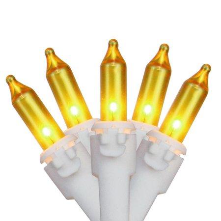 Brite Star 50ct Mini String Lights Gold - White Wire ()