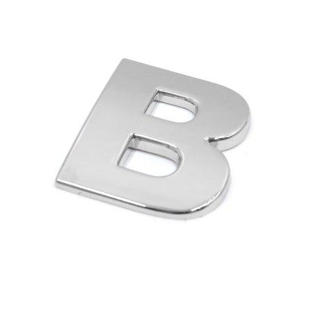 Silver Tone Metal B Letter Shaped Car Auto Exterior Emblem 3D Sticker Decor - image 2 of 2