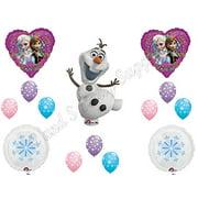 FROZEN Olaf SNOWFLAKES Happy Birthday Balloons Decoration Supplies Elsa Anna