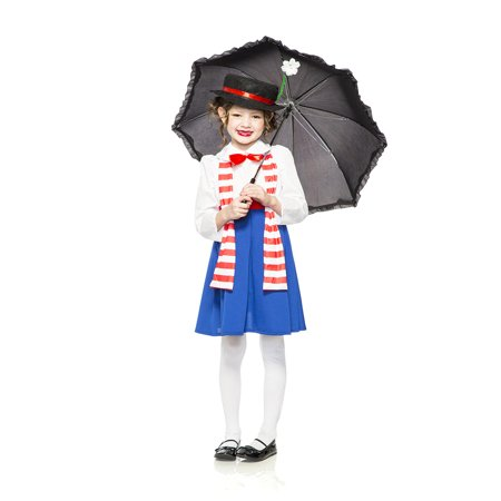 English Nanny Poppins Child - Mary Poppins Halloween Outfit