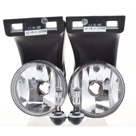 MB Auto 1994 1995 1996 1997 1998 1999 2000 2001 2002 Dodge Ram 2500 3500 Pickup Truck Bumper 2pc OEM Fog Light Lamp Clear Lens Replacement CH2593120 CH2592120