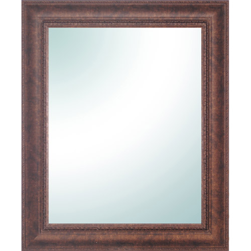 "PTM Designs Rectangular Bronze Ornate Vanity Mirror - 28"" x 34"""