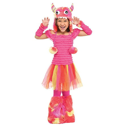 Fun World Costumes Baby Girl's Wild Child Toddler Costume, Pink, Small (24MO-2T)