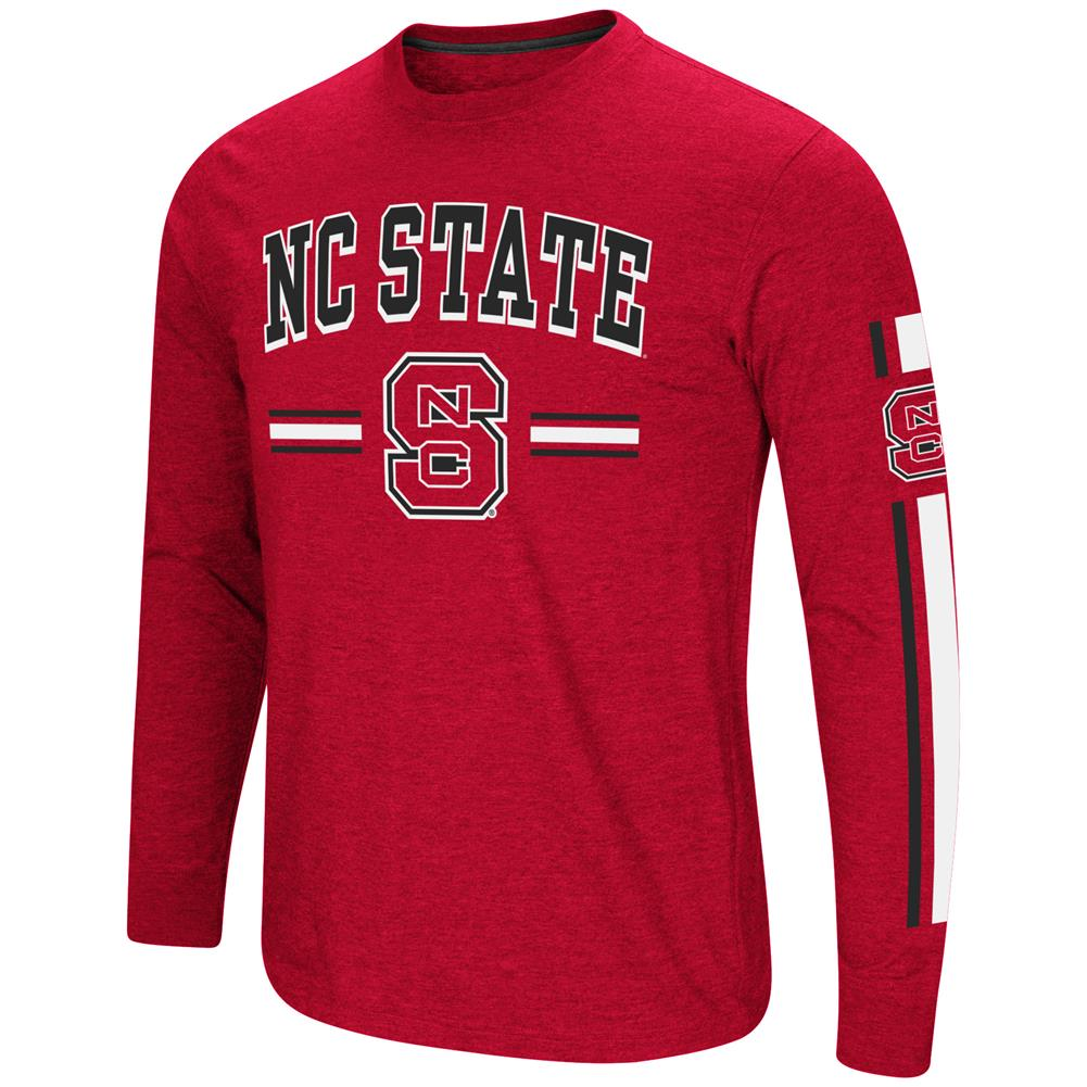 NCSU NC State Wolfpack Men's Long Sleeve Touchdown Pass Tee