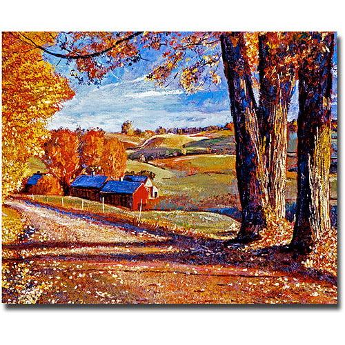 """Trademark Art """"Autumn Evening"""" Canvas Wall Art by David Lloyd Glover"""