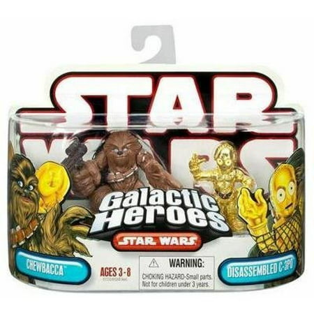 Star Wars Galactic Heroes Chewbacca & Disassembled C-3PO Figures