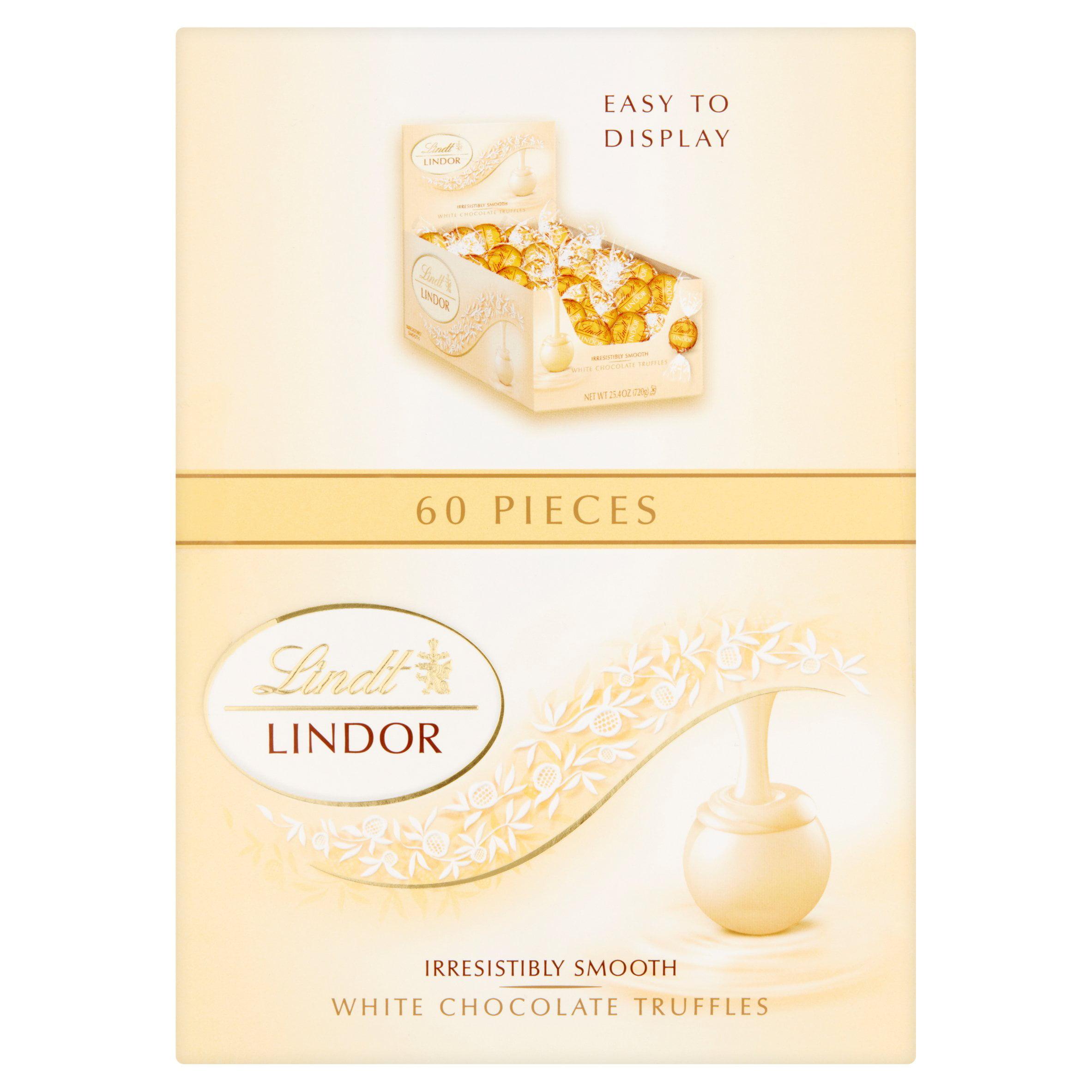 Lindt Lindor White Chocolate Truffles, 25.4 oz, 60 count