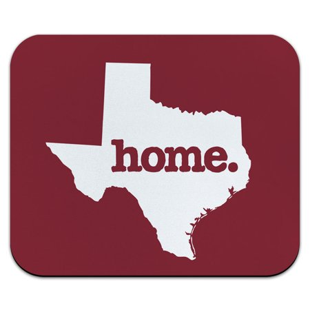 Texas TX Home State Mouse Pad Mousepad - Solid Maroon