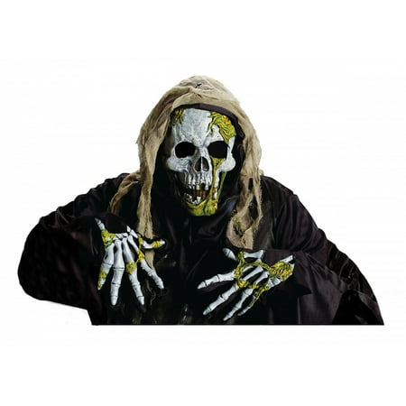 Skeleton Zombie Mask & Gloves Set - Skeleton Halloween Mask