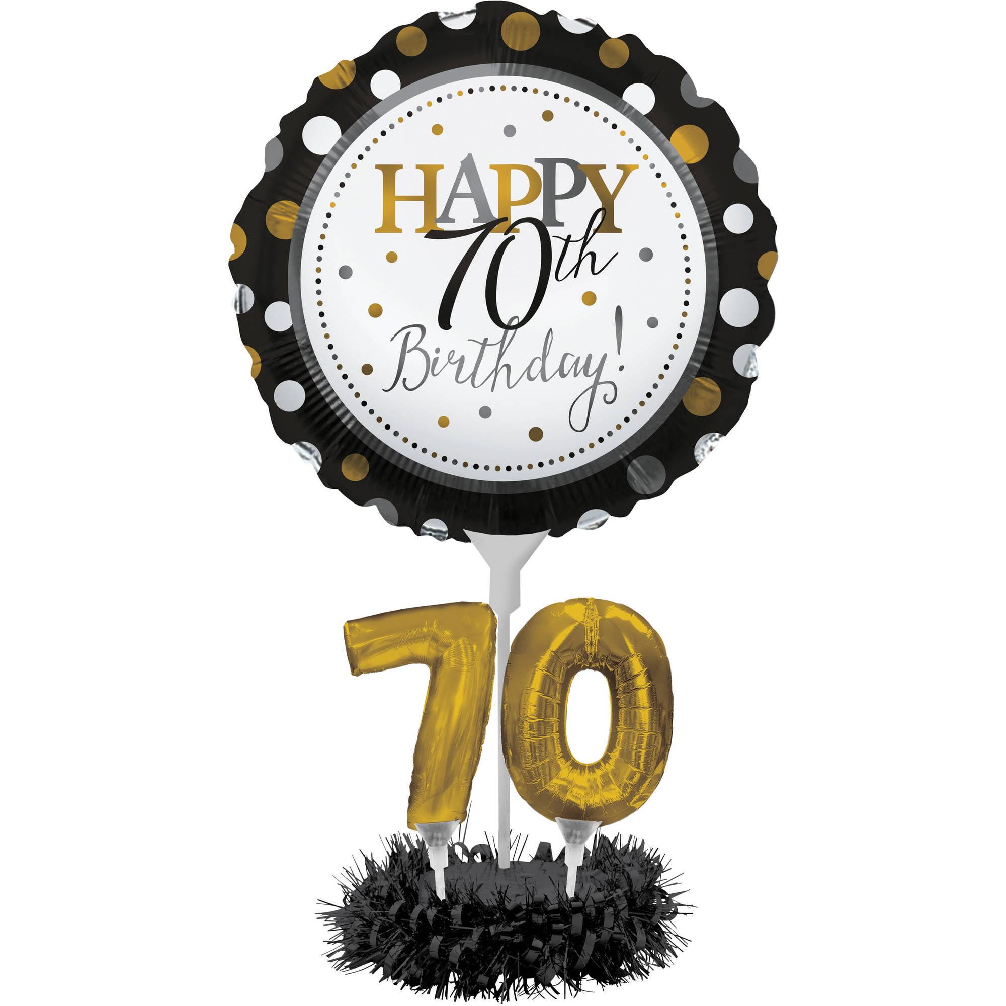 70th Birthday Balloon Centerpiece