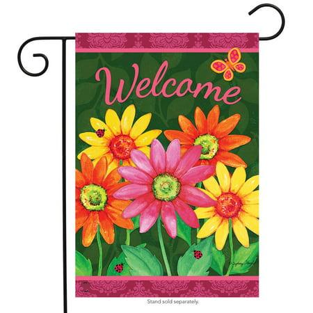 Welcome Daisies Spring Garden Flag Floral 12.5