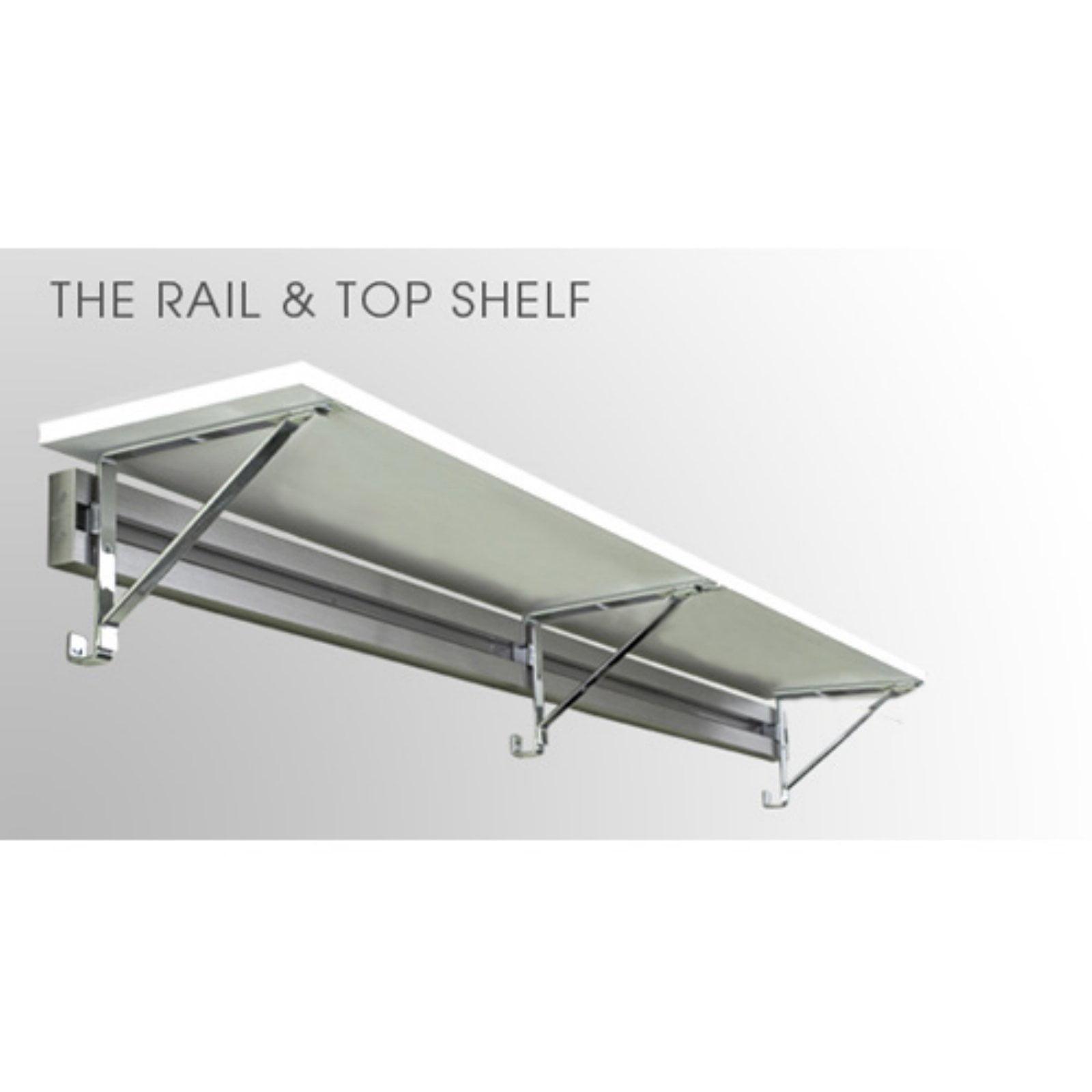 Arrange A Space Rail & 14 in. Top Shelf with Brackets