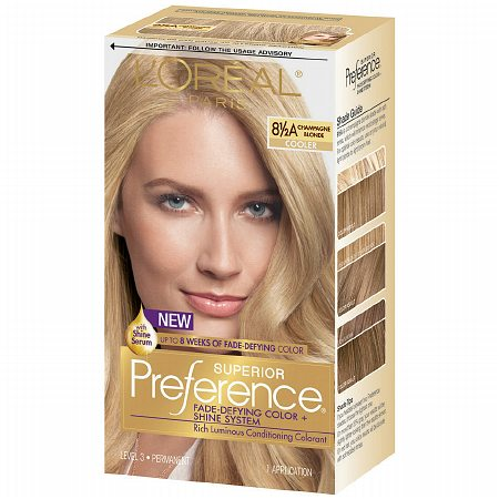 L'Oreal Paris Superior Preference Permanent Hair Color, Champagne Blonde 8 1/2A 1.0 ea(pack of 1)