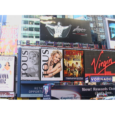 Canvas Print Broadway USA Time Square New York City NYC Stretched Canvas 10 x 14](Halloween Store Broadway Nyc)