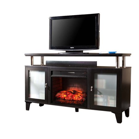 Bowery Hill Infrared Electric Fireplace Tv Stand Walmart Com