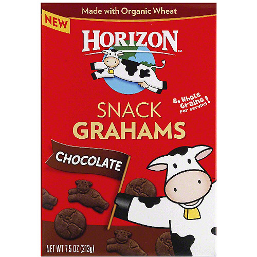 Horizon Chocolate Snack Grahams, 7.5 oz, (Pack of 12)