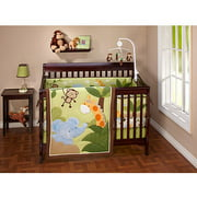 Little Bedding by NoJo - Jungle Time Crib Bedding 3-Piece Set