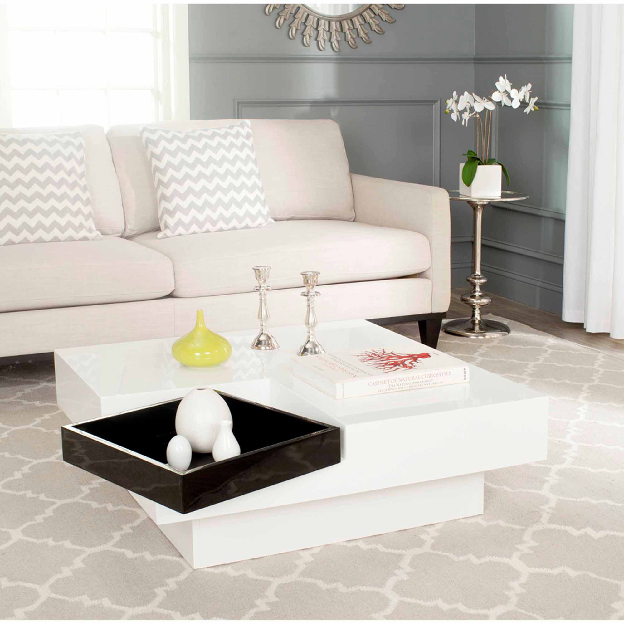 Safavieh Wesley Coffee Table, White and Black - Walmart.com