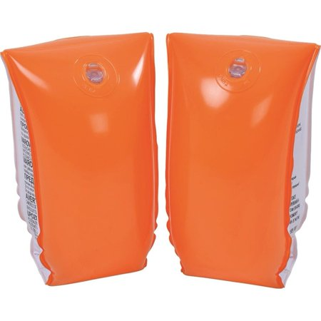 Set of 2 Orange Inflatable Swimming Pool Arm Floats for Kids 6-12 Years ()