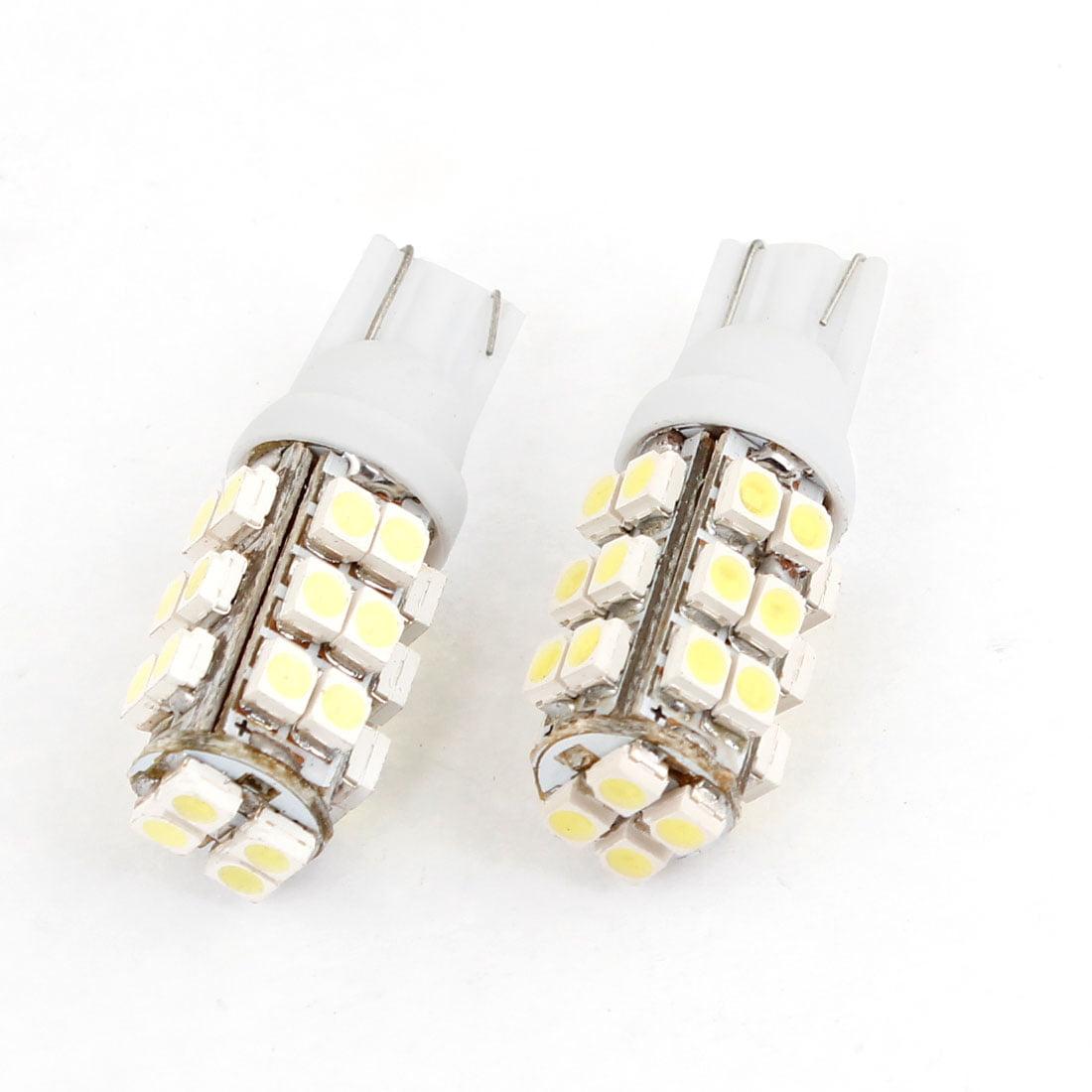 Unique Bargains 2 Pcs Car T10 White 1210 28 SMD  Bulb Tail Rear Light Lamp