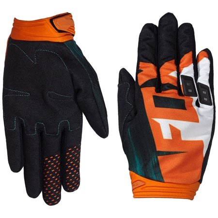 Dirtpaw Vandal Men's Off-Road Motorcycle Gloves - Green/Orange / 2X-Large,  Color: Green/Orange By Fox Racing from USA