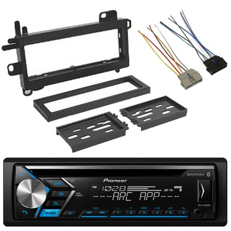 Pioneer Dehs4000bt Single Din Cd Usb Aux Bluetooth Spotify Stereo Car Audio Receiver  Scosche Cr01b Power Connector Wire Harness  W  Cj1279b Dash Kit  Fits 1984 Up Chrysler