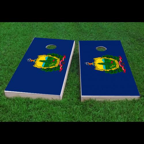 Custom Cornhole Boards Vermont State Flag Cornhole Game (Set of 2) by Custom Cornhole Boards