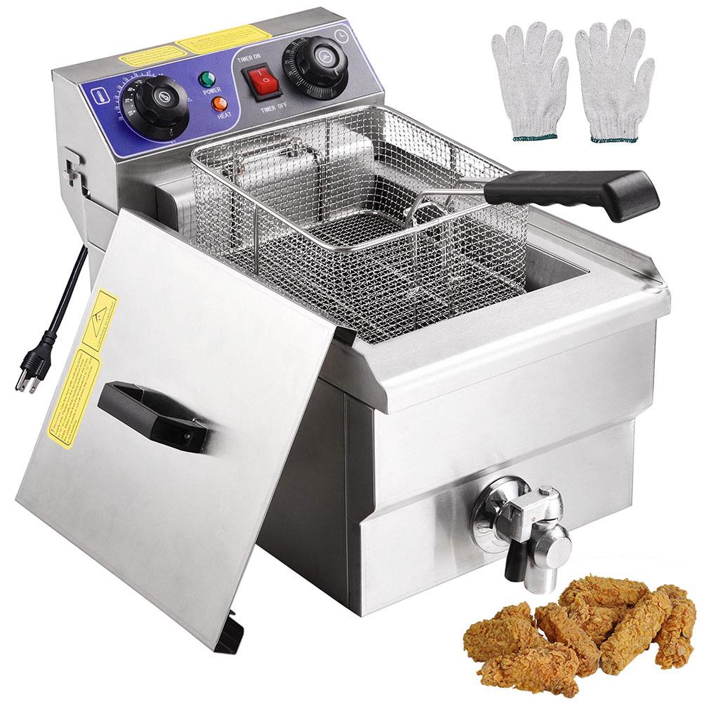 Yescom 11.7L 1500W Electric Countertop Deep Fryer Machine Kitchen